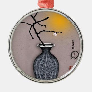 tony fernandes's moon and 4 plum blossom christmas ornament