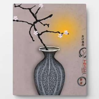 tony fernandes's moon and 6 plum blossom plaque