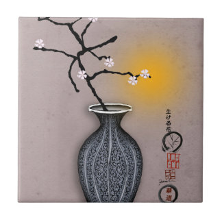 tony fernandes's moon and 7 plum blossom tile