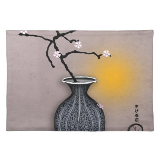 tony fernandes's moon and 9 plum blossom placemat