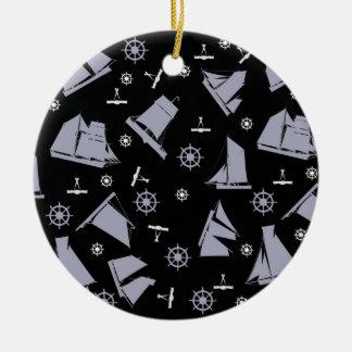 tony fernandes's nautical 1 christmas ornament