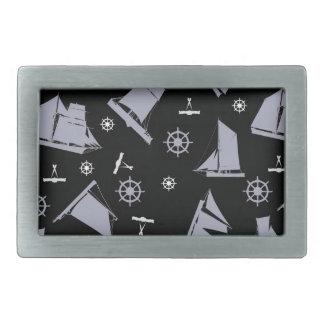 tony fernandes's nautical 1 rectangular belt buckle