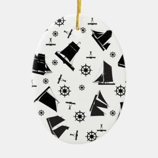 tony fernandes's nautical 2 christmas ornament