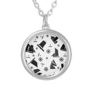 tony fernandes's nautical 2 silver plated necklace