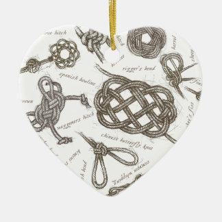 tony fernandes's nautical knots christmas ornament