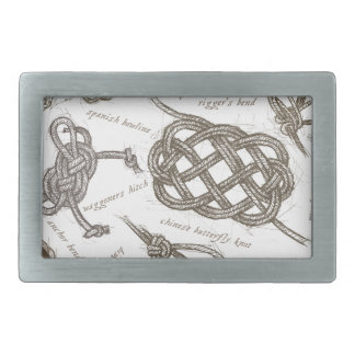 tony fernandes's nautical knots rectangular belt buckle