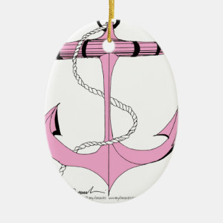 tony fernandes's new anchor pink 2 christmas ornament