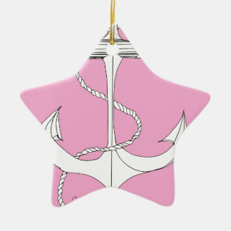 tony fernandes's new anchor pink ceramic star decoration