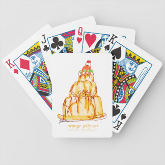 tony fernandes's orange jelly cat bicycle playing cards