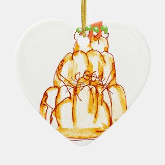 tony fernandes's orange jelly cat ceramic heart decoration