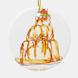 tony fernandes's orange jelly cat round ceramic decoration