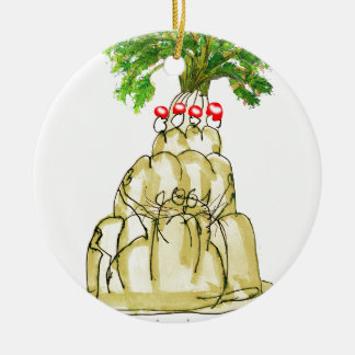 tony fernandes's parsnip jello cat round ceramic decoration