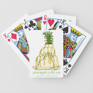 tony fernandes's pineapple jello cat bicycle playing cards