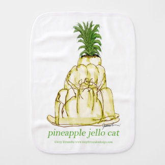 tony fernandes's pineapple jello cat burp cloth