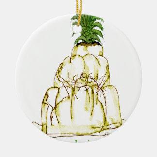 tony fernandes's pineapple jello cat christmas ornament