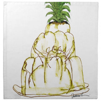 tony fernandes's pineapple jello cat napkin
