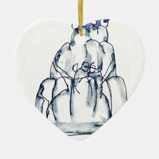 tony fernandes's prune jello cat ceramic heart decoration