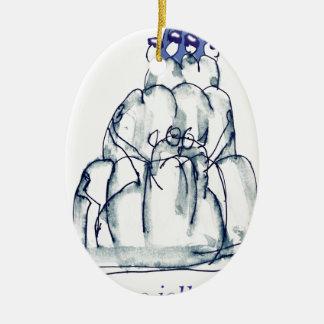tony fernandes's prune jello cat ceramic oval decoration