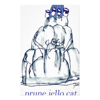 tony fernandes's prune jello cat stationery