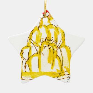 tony fernandes's quince jello cat ceramic star decoration