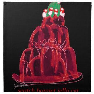tony fernandes's scotch bonnet jello cat napkin