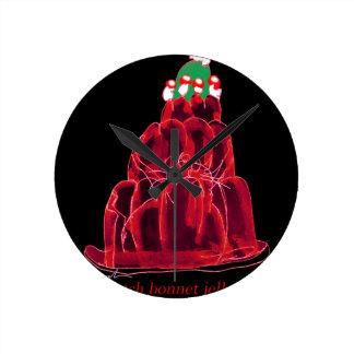 tony fernandes's scotch bonnet jello cat round clock