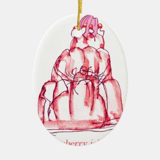 tony fernandes's strawberry jello cat christmas ornament
