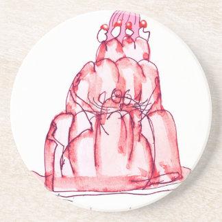 tony fernandes's strawberry jello cat coaster