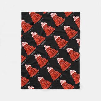 tony fernandes's strawberry jello rat fleece blanket