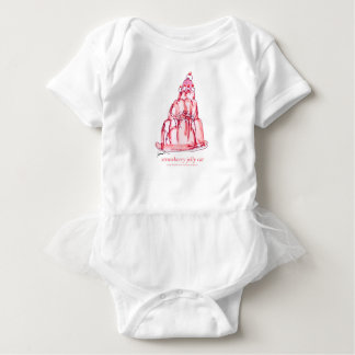 tony fernandes's strawberry jelly cat baby bodysuit