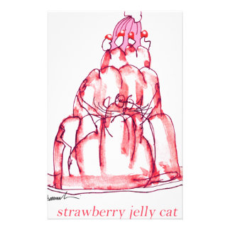 tony fernandes's strawberry jelly cat stationery
