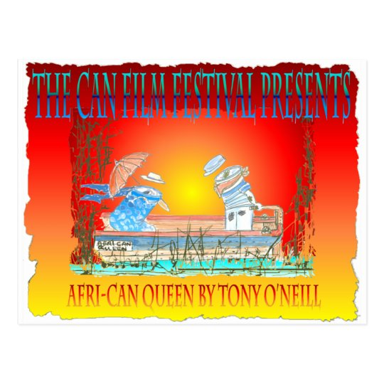 "Tony O'Neill's ""THE BOAT~THE AFRI-CAN QUEEN"" Postcard"