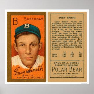 Tony Smith S Brooklyn Baseball 1911 Poster