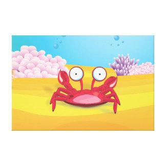 Tony the Crab Gallery Wrap Canvas