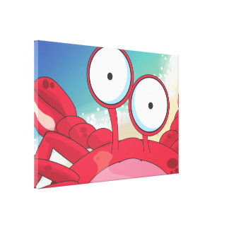 Tony the Crab Stretched Canvas Print