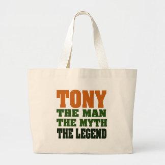 TONY - the Man, the Myth, the Legend Large Tote Bag