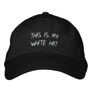 Tony's White Hat Embroidered Baseball Caps