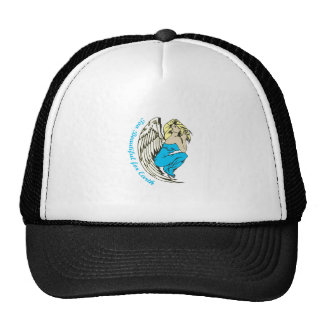 TOO BEAUTIFUL FOR EARTH MESH HAT