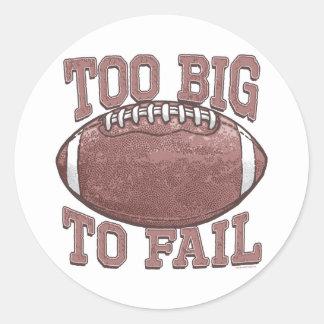 Too Big to Fail Football Gear Stickers