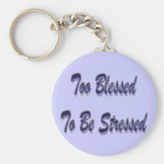 Too Blessed Purple Basic Round Button Key Ring