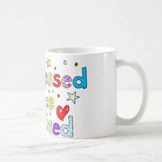 Too Blessed To Be Stressed Basic White Mug
