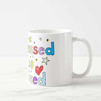 Too Blessed To Be Stressed Mugs