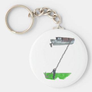 too buoyant basic round button key ring