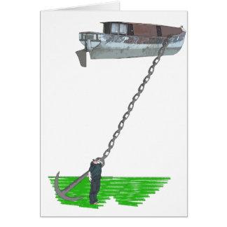 too buoyant greeting card