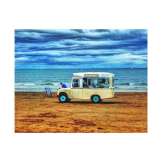 Too Cold For Ice Cream!? Canvas Print