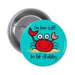 Too Cute Crab 6 Cm Round Badge