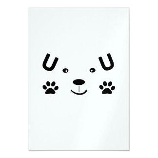 Too Cute Dog 9 Cm X 13 Cm Invitation Card