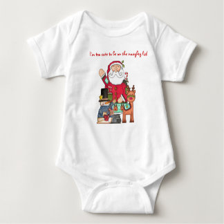 Too Cute for the Naughty List!! Baby Bodysuit