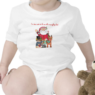 Too Cute for the Naughty List!! Baby Bodysuits