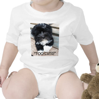 """Too Cute"" infant sleeper by Zoltan Buday Bodysuit"